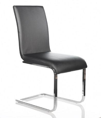 Topline Home Furnishings Black Leatherette Side Chairs - image 2 of 2