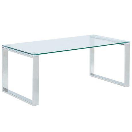Wondrous Glass Chrome Coffee Table Download Free Architecture Designs Scobabritishbridgeorg