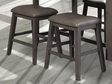 Topline Home Furnishings Grey Upholstered Saddle Stools - image 1 of 2