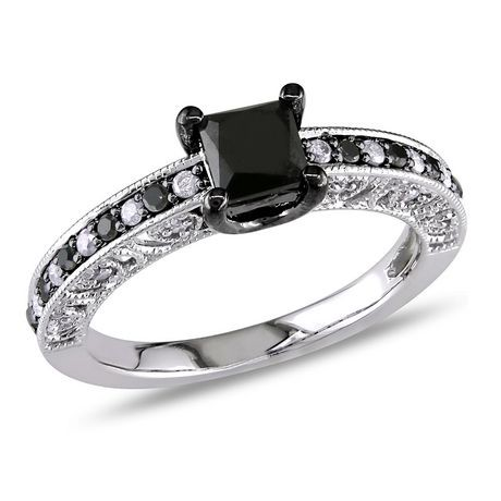 profile diamond engagement barkev ring s rings black