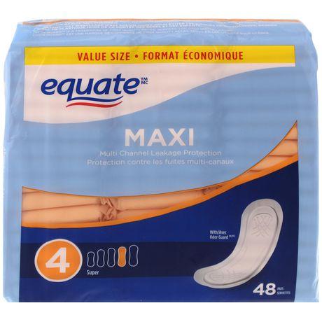 Equate Super Maxi Pads - image 1 of 3