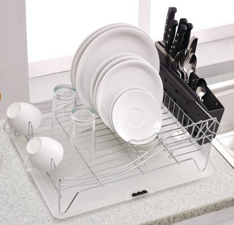 MAINSTAYS Deluxe Chrome Dish Rack - image 2 of 2