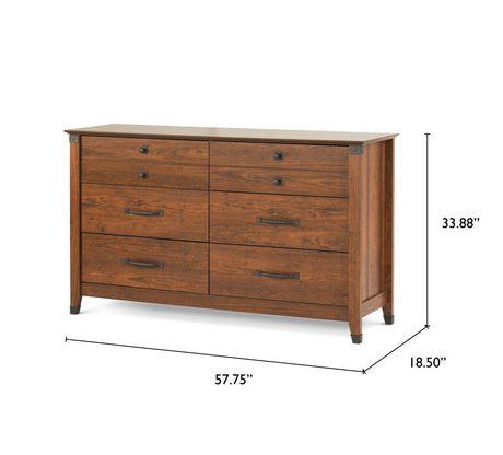 Commode double à 6 tiroirs Redmond de Child Craft, Cerisier carrosse - image 3 de 3