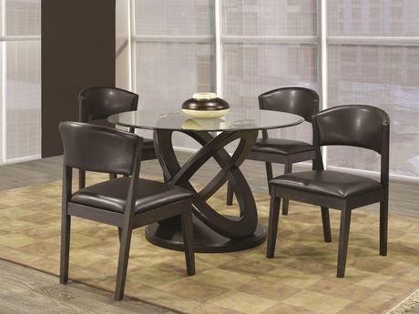 Topline Home Furnishings 5pc Spherical Inspired Dining Set - image 1 of 1
