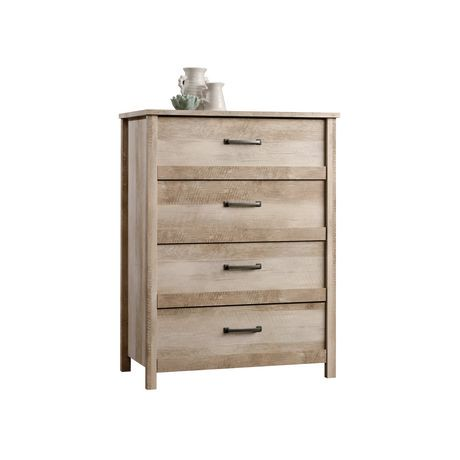Sauder Lintel Oak Finish 4 Drawer Chest Walmart Canada