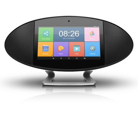 aluratek wifi internet radio with lcd touch screen display. Black Bedroom Furniture Sets. Home Design Ideas