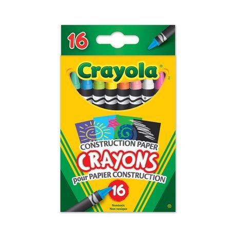 Crayola Construction Paper Crayons 16 Count