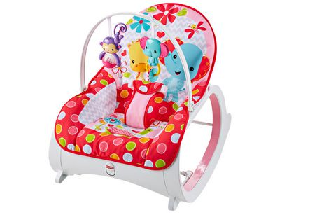 Fisher price infant to toddler rocker flowery chevron for Chaise vibrante