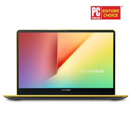 "Asus VivoBook, Intel Core i5-8250U, Intel HD Graphics, 8GB DDR4, 256GB SSD, Windows 10, S530UA-DB51-YL, Sliver with Yellow Edges 15.6"" Laptop - image 1 of 1"