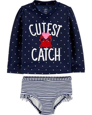 Ensemble maillot solaire pour nouveau-née fille Child of Mine made by Carter's des vêtements de bain - image 1 de 1