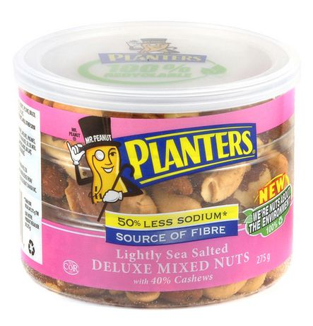 Planters Lightly Sea Salted Deluxe Mixed Nuts | Walmart Canada on planters salted peanuts, planters unsalted nuts, planters tube nuts, planters dry roasted peanuts,