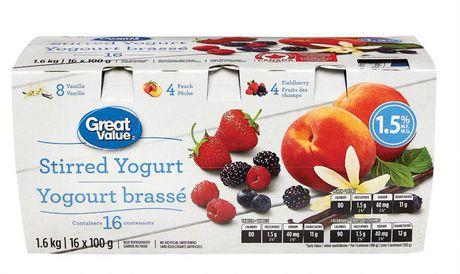 Great Value Stirred Yogurt Variety Pack - image 1 of 2