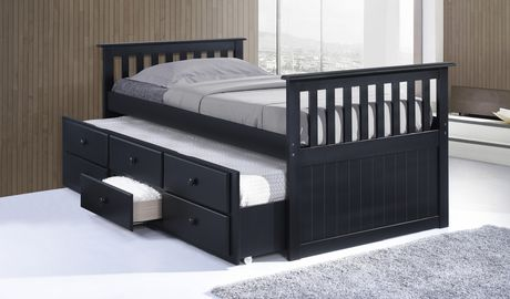 Broyhill Kids Marco Island Collection Captain 39 S Espresso Bed With Trundle Bed And Drawers