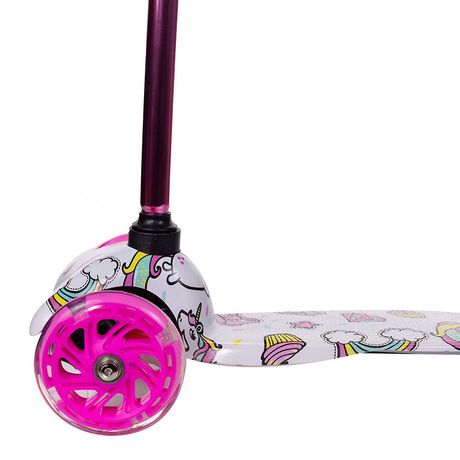 Rugged Racers Kids Scooter With Unicorn Print Design - image 6 of 8