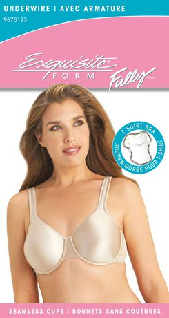 EXQUISITE FORM® Fully - 9675123 - Seamless T-shirt bra with ...