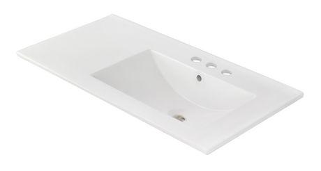 American Imaginations 35.5-in. W Ceramic Top Set White - image 4 of 7