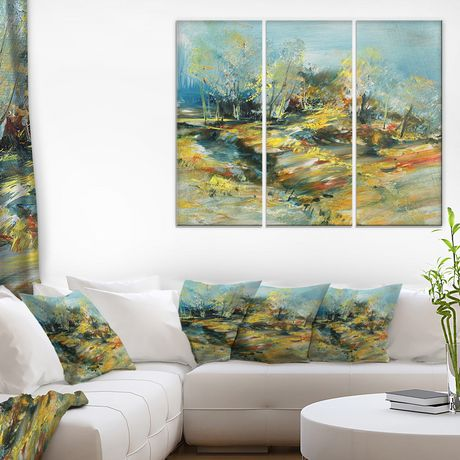 Design Art Abstract Landscape Canvas Print - image 1 of 2