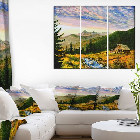 Impression sur toile « Sunset In Mountains » Design Art - image 1 de 2