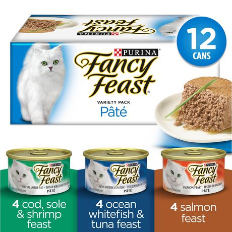 Fancy Feast Pate Seafood Supper Wet Cat Food Variety Pack - image 1 of 3