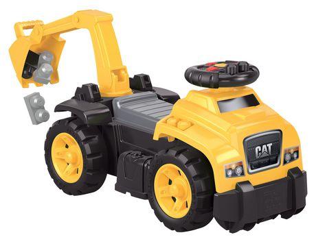 MEGA BLOKS – CAT 3-in-1 Excavator Ride-On - image 5 of 8
