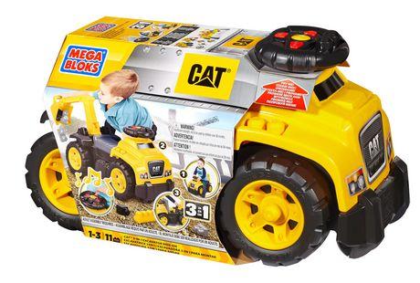 MEGA BLOKS – CAT 3-in-1 Excavator Ride-On - image 8 of 8