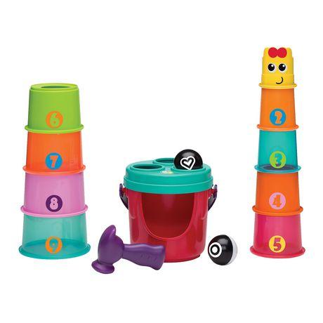 dd13672ef0fd Infantino Bkids Shape Sorting Stack N  Nest Toy Buckets