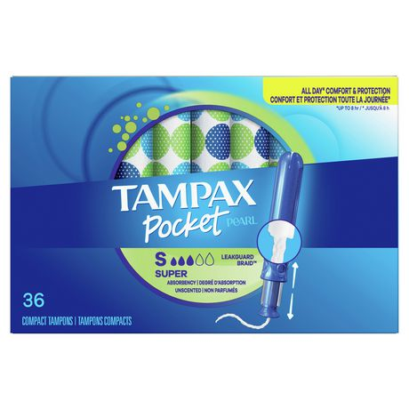 Tampax Pocket Pearl Super Plastic Tampons, Unscented - image 2 of 9