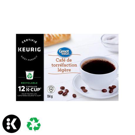 Dosettes K-Cup de café Great Value, torréfaction légère - image 3 de 7