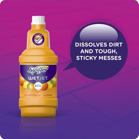Swiffer WetJet Antibacterial Floor Cleaner with Febreze Fresh Scent -  Citrus & Light | Walmart CanadaWalmart.ca
