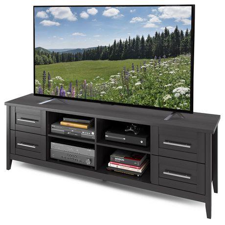 CorLiving Meuble pour téléviseur faux-fini de bois noir - image 2 de 4