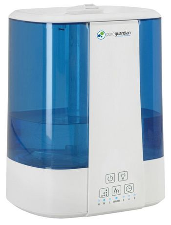 Pure Guardian H5225WCA 2 Gallon Room Humidifier PureGuardian 10L Output per Day Top Fill Ultrasonic Warm and Cool Mist Humidifier with Aroma Tray for Essential Oils 100-Hour Personal Humidifier