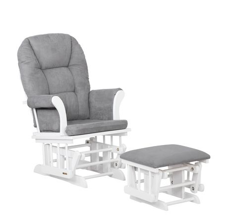 Tremendous Lennox Jordan Glider Rocker Chair And Ottoman Combo White With Light Grey Inzonedesignstudio Interior Chair Design Inzonedesignstudiocom