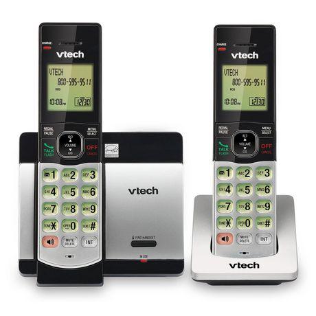 Système téléphonique CS5119-2 DECT 6.0 de Vtech sans fil extensible avec 2 combinés - image 1 de 3