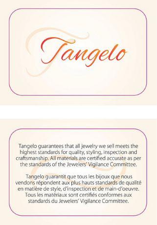 Pendentif  Tangelo avec oeil de chat synthétique de multi-couleur en argent sterling, 18 po - image 4 de 4