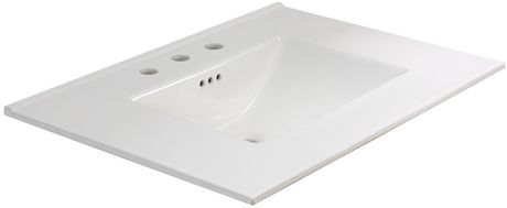 American Imaginations 30.75-in. W Ceramic Top Set White - image 6 of 7