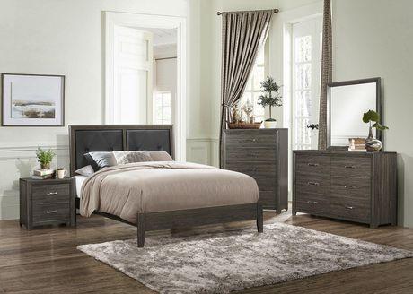 Topline Home Furnishings Dark Grey King Bed - image 2 of 2