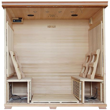Radiant Saunas 6-Person Cedar Infrared Sauna with 10 Carbon Heaters - image 2 of 8
