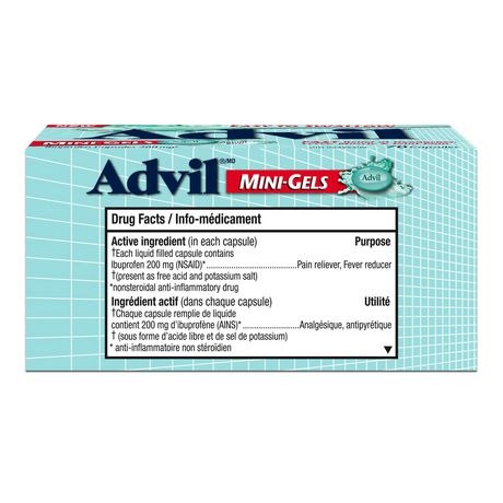 Advil Mini-Gels (70 Count), 200 mg ibuprofen, Temporary Pain Reliever / Fever Reducer - image 2 of 4