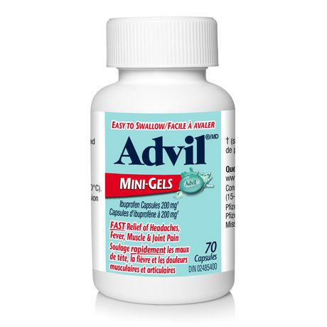 Advil Mini-Gels (70 Count), 200 mg ibuprofen, Temporary Pain Reliever / Fever Reducer - image 3 of 4