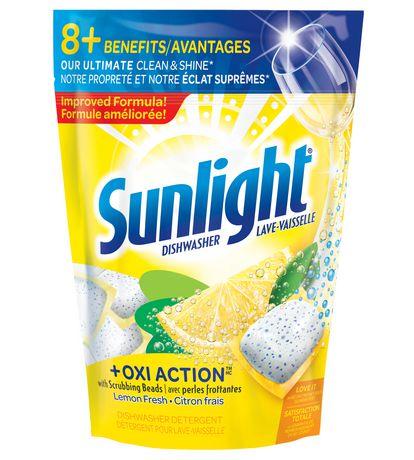 Sunlight Dishwasher Oxi Action Lemon Fresh 55ct | Walmart
