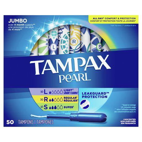 Tampax Pearl Triplepack (Light/Regular/Super) Plastic Tampons, Unscented - image 2 of 7