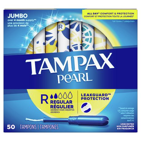 Tampax Pearl Regular Plastic Tampons, Unscented - image 2 of 6