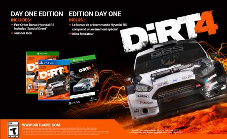 dirt 4 day one edition xbox one walmart canada. Black Bedroom Furniture Sets. Home Design Ideas