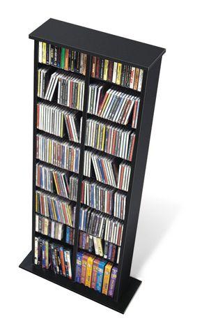 Double Multimedia Storage Tower Black - image 2 of 2