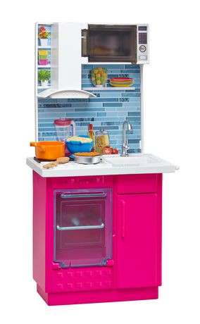 Barbie kitchen and doll set walmart canada for Barbie kitchen set 90s