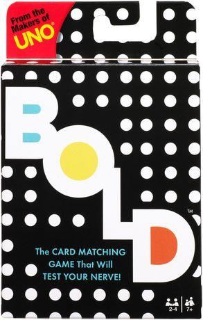 Mattel Bold Card Game Walmart Canada