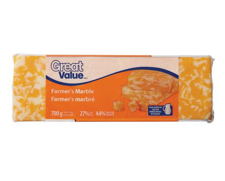 Great Value Farmer S Marble Cheese Walmart Canada