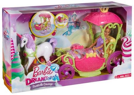 Barbie dreamtopia royaume des bonbons cal che et - Caleche barbie ...