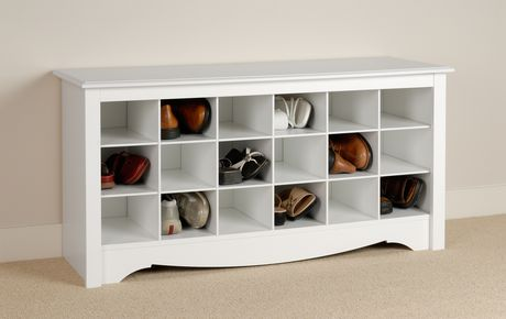 Shoe Storage Cubbie Bench White - image 2 of 4