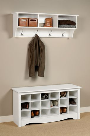 Shoe Storage Cubbie Bench White - image 3 of 4